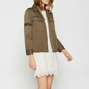 JOIE Balthazar' green military jacket Sz S